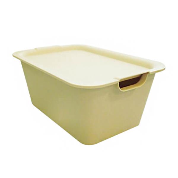 日本製萬用附蓋收納整理箱(米)