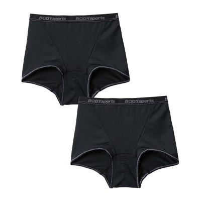 【WEB限定】メッシュ素材で涼しい 吸汗速乾ボクサーサニタリーショーツ昼用2枚組(羽付ナプキン対応)(L) サニタリー(生理用ショーツ)Panties