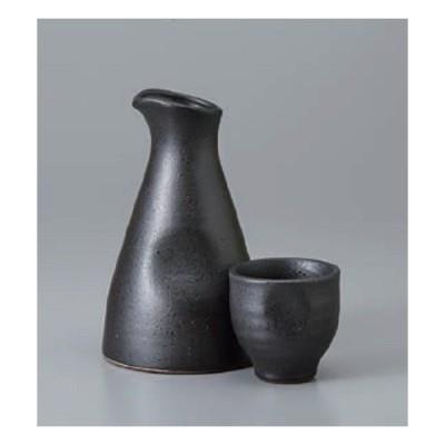 酒器セット 黒釉徳利 (大) 徳利&ぐい呑(2個)セット 徳利 日本製 美濃焼