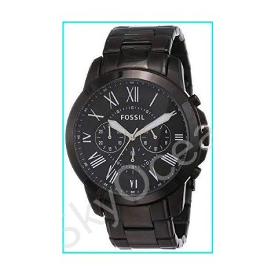 Fossil Men's Grant Quartz Stainless Steel Chronograph Watch, Color: Black (Model: FS4832)【並行輸入品】