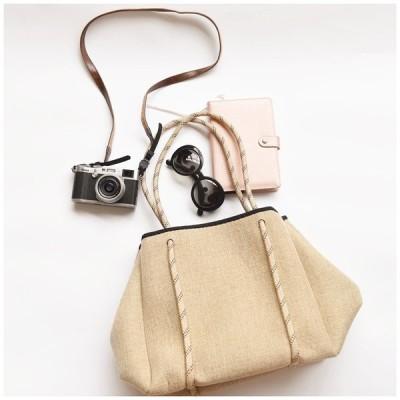 トートバッグ ネオプレーン レディース 大容量 SNS話題 収納バッグ マザーズバッグ 人気 実用 男女兼用 おしゃれバッグ