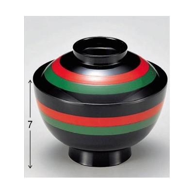 汁椀 新越前椀 二色ライン 食洗器 洗浄機 使用可能 寸法: 11.1φ x 9.7cm 入数: 100個