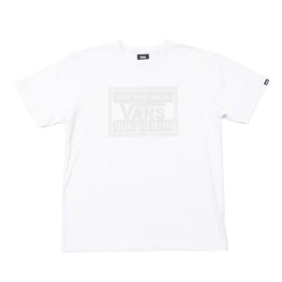 【VANS】 ヴァンズ VANS GLOSSY RUBBER LOGO SS TEE ショートスリーブ 120H1012800 WHITE XL ホワイト