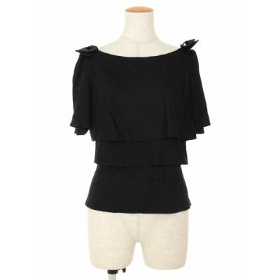 エムズグレイシー Tシャツ カットソー ティアード フリル 半袖 40