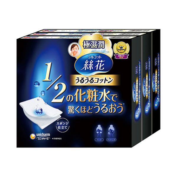 絲花潤澤化妝棉40片*3入