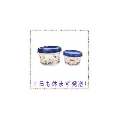 ムーミン ラウンドコンテナL&M お花畑 MMLC3305