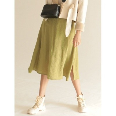 スカート Double slit skirt
