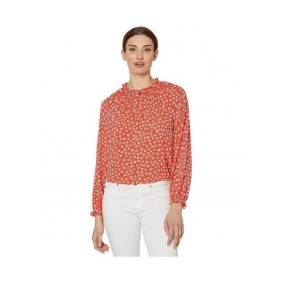 CeCe レディース 女性用 ファッション ブラウス Long Sleeve Daisy Melody Blouse with V-Neck - Candy Apple
