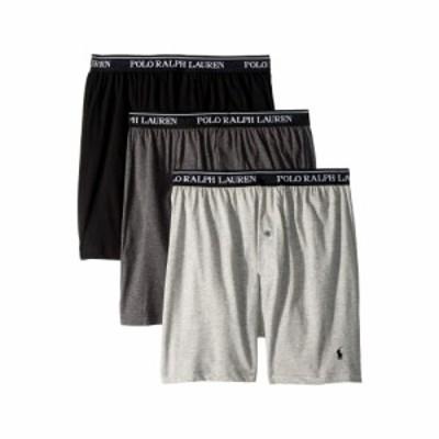 ラルフ ローレン Polo Ralph Lauren メンズ ボクサーパンツ 3点セット Classic Fit w/ Wicking 3-Pack Knit Boxers Andover Heather/Madi