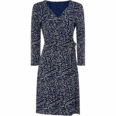 ガント Gant レディース ワンピース ラップドレス ワンピース・ドレス Tie Wrap Printed Dress Navy