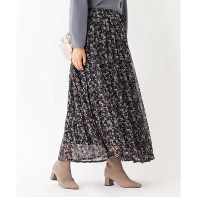 スカート 【GISELe11月号掲載】ダークフラワープリーツスカート