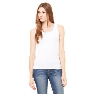 ユニセックス 衣類 トップス The Bella + Canvas Ladies 2x1 Rib Tank Top - WHITE - M ブラウス&シャツ