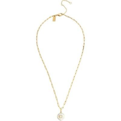 コーチ COACH レディース ネックレス ジュエリー・アクセサリー Logo Pearl Pendant Necklace Pearl