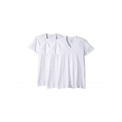 2(X)IST ツーバイスト メンズ 男性用 ファッション Tシャツ 3-Pack ESSENTIAL Slim Fit V-Neck T-Shirt - White New Logo