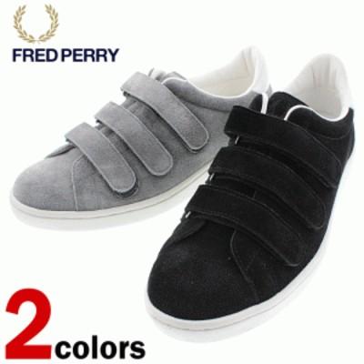 フレッドペリー FRED PERRY スニーカー ブロー ベルクロ スエード BREAUX VERC SUEDE F29618 07(ブラック) 30(グレー)