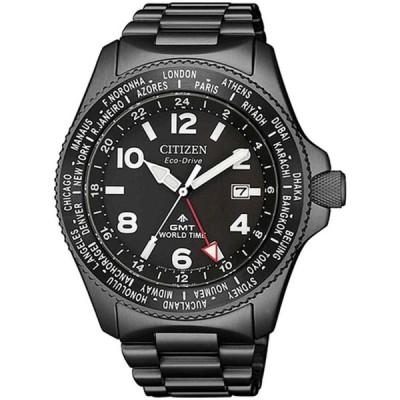 シチズン 腕時計 Citizen Promaster プロマスター Stainless Steel Eco-Drive エコドライブ GMT Watch BJ7107-83E
