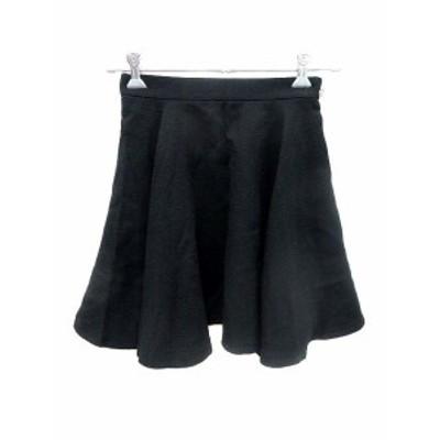 【中古】リランドチュール Rirandture スカート フレア ミニ ウール 2 黒 ブラック /YK レディース