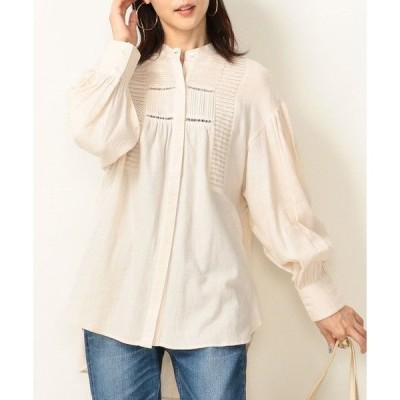SHIPS for women / シップスウィメン SHIPS any: コットンピーチバンドカラーシャツ