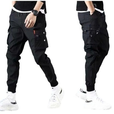 ストリートミリタリーメンズ黒ズボンミリタリーパンツパンツジョガー作業服