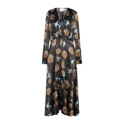 フォルテ フォルテ FORTE_FORTE ロングワンピース&ドレス ダークブラウン 3 シルク 100% ロングワンピース&ドレス