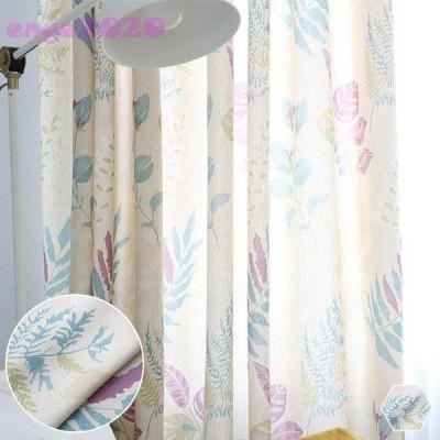 オーダー カーテン おしゃれ プリント 植物柄 かわいい 子供部屋 タッセル付き ドレープ 遮光可能 片開き1枚 両開き2枚組  幅60〜100cm丈60〜100cm