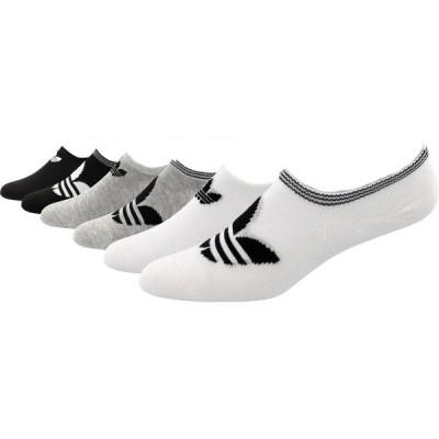 アディダス 靴下 アンダーウェア レディース adidas Originals Women's Trefoil Super No Show Socks - 6 Pack White/Grey/Black