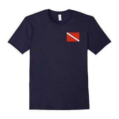トップス サマークールファニー ダイバーダウン ダイブ フラッグTシャツ スキューバダイブTシャツ サマーTシャツ| Tシャツ|