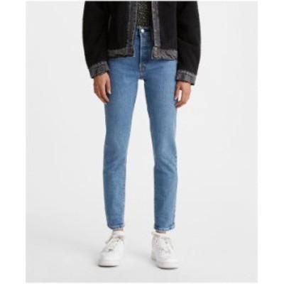 リーバイス レディース デニムパンツ ボトムス Women's 501 Distressed Skinny Jeans Jive Tides
