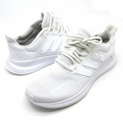 【中古】アディダス adidas ファルコンラン FALCONRUN W スニーカー ランニングシューズ 白 ホワイト 24.5cm F36215 極美品 レディース
