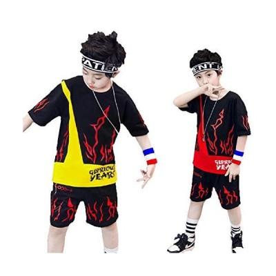 TRVELBETTキッズ ダンス衣装 ヒップホップ 子供用 ボーイズ ガールズ tシャツ サルエルパンツ ジュニア ジャージ