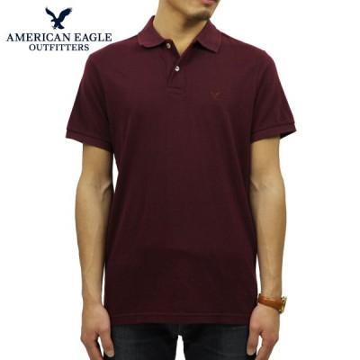 アメリカンイーグル AMERICAN EAGLE 正規品 メンズ ワンポイントロゴ 半袖ポロシャツ AE Logo Jersey Polo Shirt 1165-8851-613