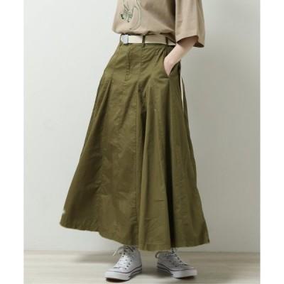 スカート 裾ボリュームフレアスカート