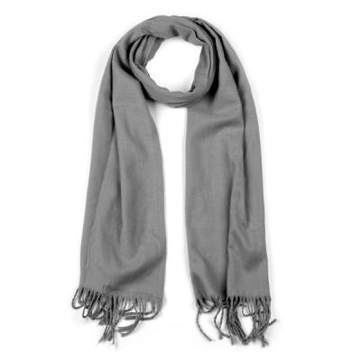 uxcell ショール ロングスカーフ タッセル付き スカーフ 男女兼用 グレー 16x29(L*W)