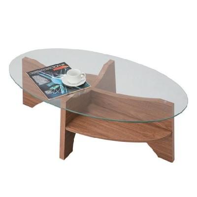 リビングテーブル ローテーブル ガラス北欧風 幅105cm
