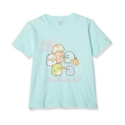[スミッコグラシ] Tシャツ すみっコぐらし ぺんぺんアイスクリーム 半袖 キッズ サックス 日本 130 (日本サイズ130 相当)