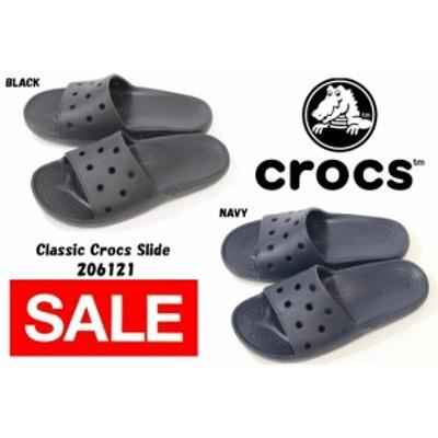メンズ レディース シャワーサンダル クラシック クロックス スライド Classic Crocs Slide 206121 001 BLACK 410 NAVY
