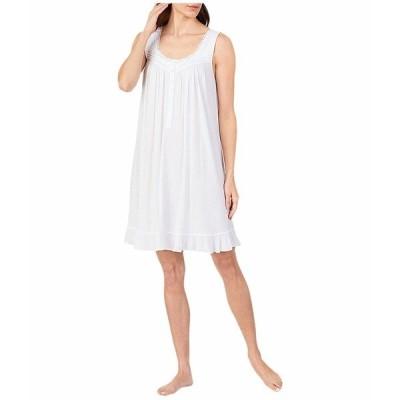 エイレーンウェスト ナイトウェア アンダーウェア レディース Modal Spandex Knit Sleeveless Short Nightgown White