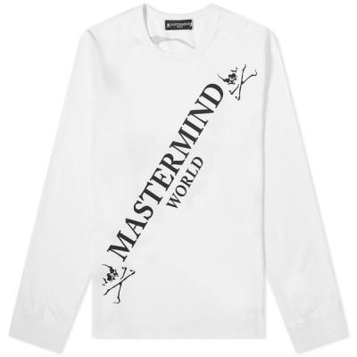 マスターマインド MASTERMIND WORLD メンズ 長袖Tシャツ ロゴTシャツ トップス Long Sleeve Big Logo Tee White