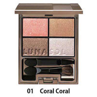 カネボウ化粧品LUNASOL(ルナソル) シアーコントラストアイズ 01(Coral Coral)