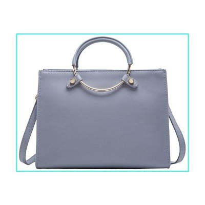【新品】BOYATU Leather Handbag for Women Fashion Ladies Shoulder Purse Top Handle Bag Grey-1(並行輸入品)
