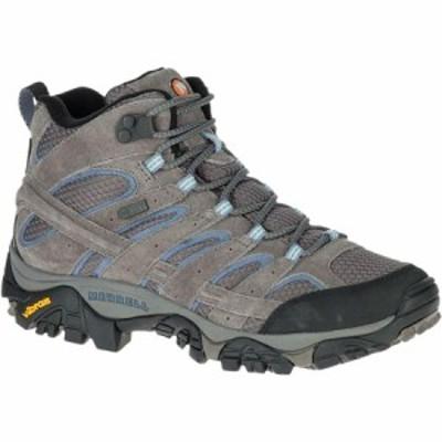 (取寄)メレル レディース モアブ 2 ミッド ワイド ハイキング ブーツ Merrell Women Moab 2 Mid  Wide Hiking Boot Granite