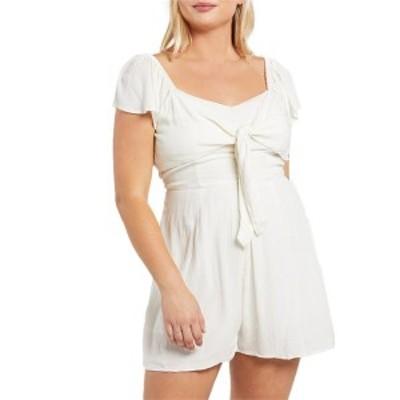 ボルコム レディース ワンピース トップス Volcom x Coco Ho Short-Sleeve Romper - Women's White