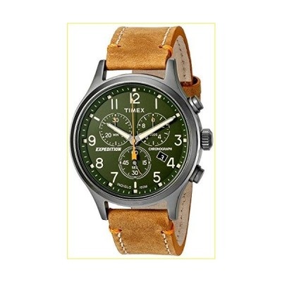 【新品・未使用品】Timex Men's Expedition TW4B04400 Brown Leather Analog Quartz Fashion Watch【並行輸入品】