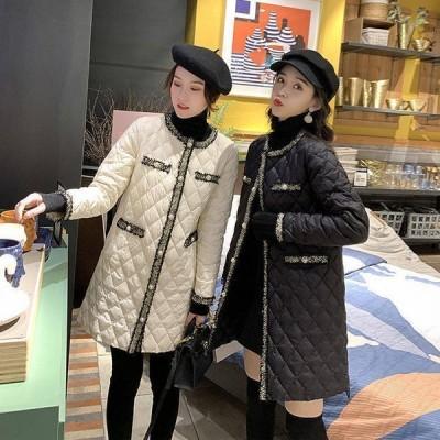 ロング中綿コート コート レディース 冬 アウター ロング丈 ロングジャケット 中綿コート ゆったり 暖かい 体型カバー 大きいサイズ ロング丈