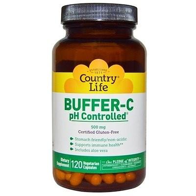 バッファー C、pH Controlled?(pH 制御)、500 mg、120 ベジカプセル