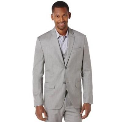 ペリーエリス メンズ ジャケット&ブルゾン アウター Men's Texture Suit Jacket Brushed Nickel