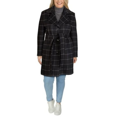 ジョーンズニューヨーク レディース コート アウター Plus Size Single-Breasted Notch-Collar Coat