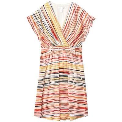 ロンドンタイムス ワンピース トップス レディース Bodice Wrap Dress Over Waist Detail Red/Multi