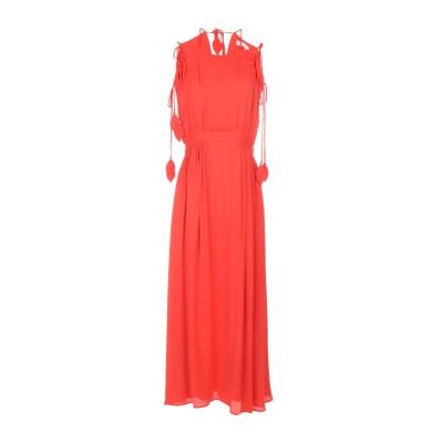トリー バーチ TORY BURCH ロングワンピース&ドレス オレンジ 8 レーヨン 100% ロングワンピース&ドレス