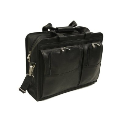 Piel Leather Professional Computer Portfolio, Black, One Size